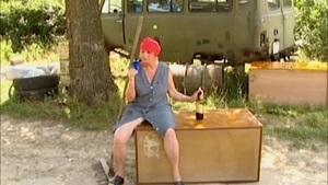 Oma nackt camping